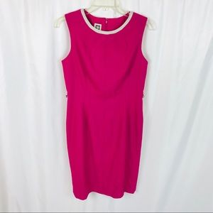 Anne Klein hot pink sheath dress sleeveless